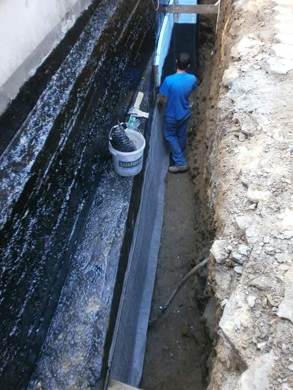 Izolacja pionowa drenaż opaskowy oraz ocieplenie fundamentów Wisła