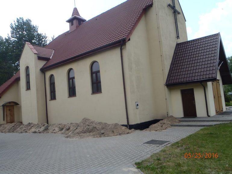 Izolacja pionowa kościoła Sosnowiec